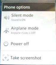 Taking Screenshots on Sony Ericsson Xperia Android OS by Jcyberinux