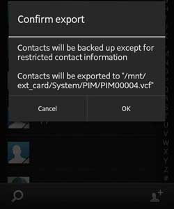 Import, Export, and Send Phone contacts (*.vcf) file via Android