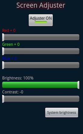 Screen Adjuster Contrast, Brightness, RGB Control App