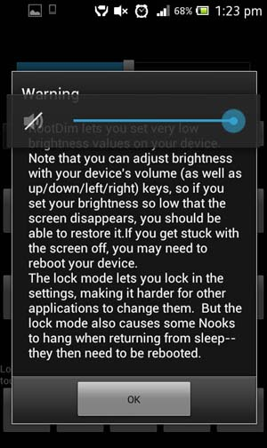 RootDim custom brightness and nightmode for Android Phones