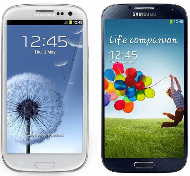 Samsung Galaxy SIII and S4
