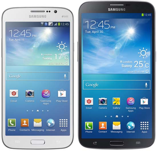 Samsung Galaxy Mega 5.8 and 6.3