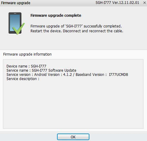 Update Galaxy SII I777 AT&T to Official Android 4.1.2 Jelly Bean I777UCMD8