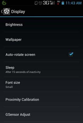 G-sensor Adjust and Proximity Calibration on SkyFire 2.0