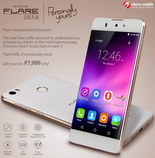 Cherry Mobile Flare Selfie with Fingerprint Scanner | Jcyberinux