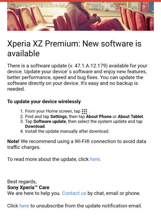 Xperia XZ Premium - Version 47.1.A.12.179