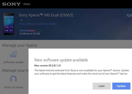 Xperia M5 Dual - Version 30.2.B.1.21