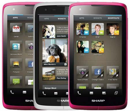 Sharp launch Android Smartphones on the market