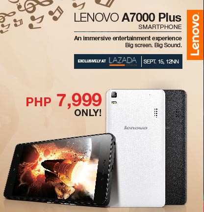 Lenovo A7000 Plus, roll out through Lazada at P7999 | Jcyberinux
