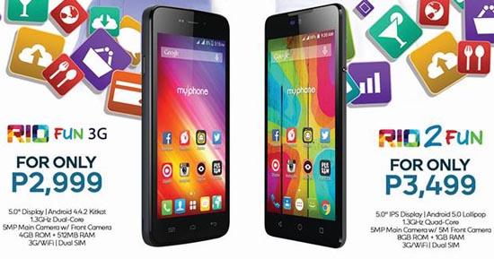 MyPhone Rio Fun 3G and Rio 2 Fun