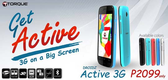 Torque DROIDZ Active 3G