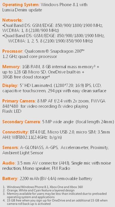 Microsoft Lumia 540 Dual SIM, with PH price tag at P7990
