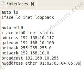 How to Change you MAC Address of your Network or Ethernet card in Ubuntu Debian