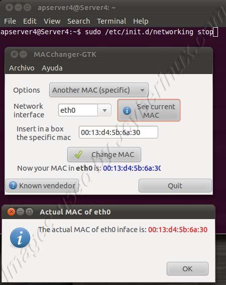 How to Change your MAC Address macchanger-gtk of your Network or Ethernet card in Ubuntu Debian