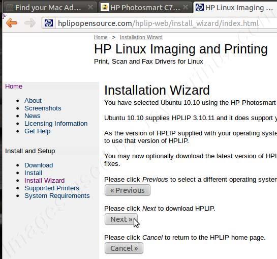 Install HPLIP HP Linux Printer Imaging Driver in Ubuntu   Jcyberinux