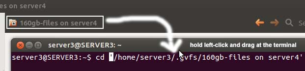 Browse Shared Drives on Network via Folder or Terminal
