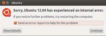 How to Fix Ubuntu 12.04 has experienced an internal error
