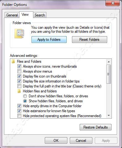 Change Folder Views and Details on Windows 7