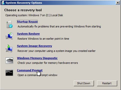 Startup Repair and Boot Loader Fix in Windows 7