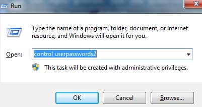 Disable or Turn off Automatic Logon of the User Account on Windows 7/Vista