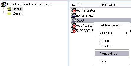 Disable/Hide Guest Account on Windows XP Logon