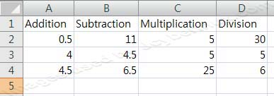 How to used Basic Mathematic Formulas or Calculation in Microsoft Excel