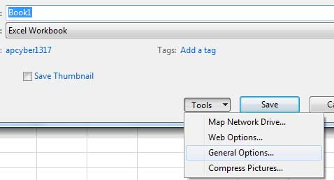Add password protection on MS Office Excel, Word, Powerpoint file