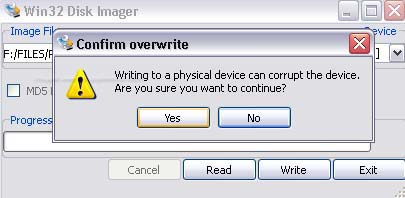 How to write image file on usb