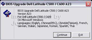 How to Update BIOS on Dell Latitude C600/C500 used by Jcyberinux