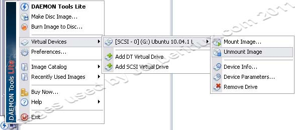 Mount CD/DVD Image to Virtual Drive using Daemon Tools Lite by Jcyberinux