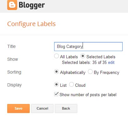 Group Blogger Posts by Categories using Labels