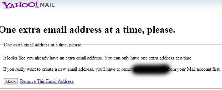 Remove Extra Email Address