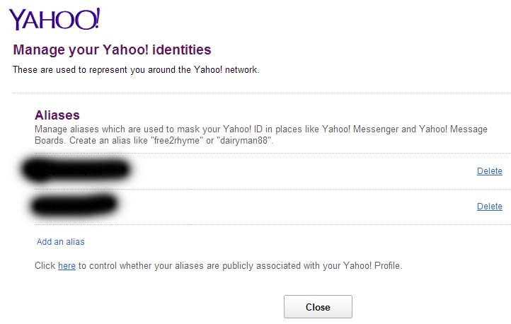 Delete yahoo account email address - 47.8KB