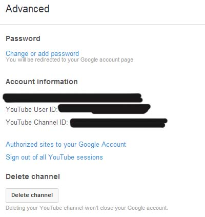 YouTube User ID and Channel ID