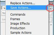 Save and Load Photoshop Actions