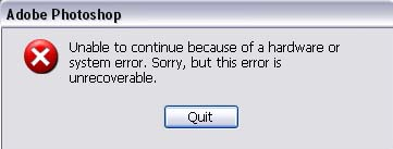Unable to continue because of a hardware or software error by Jcyberinux