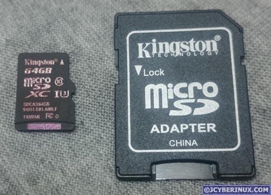 Kingston SDCA3/64GB microSD card