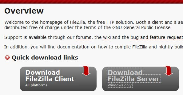 MANAGE FILEZILLA SERVER