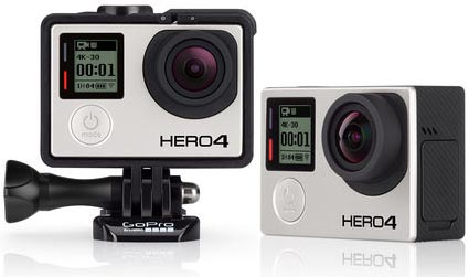 GoPro HERO4 Black and Silver