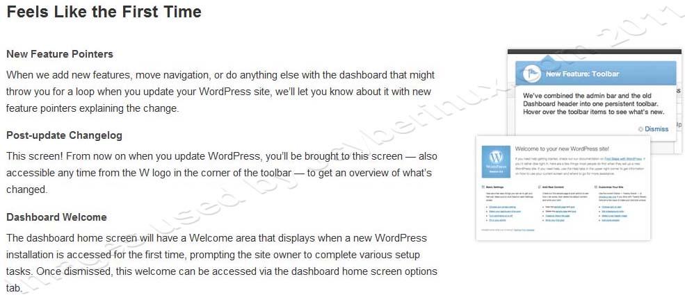 Difference between WordPress 3.2.1 and WordPress 3.3