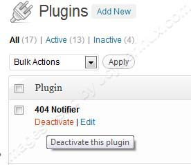 404 Notifier for WordPress Plugin