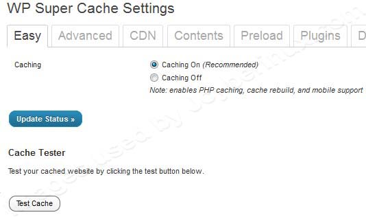 WP Super Cache Plugin to Optimize your WordPress Blog