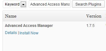 WordPress User Access Control Manager Plugin