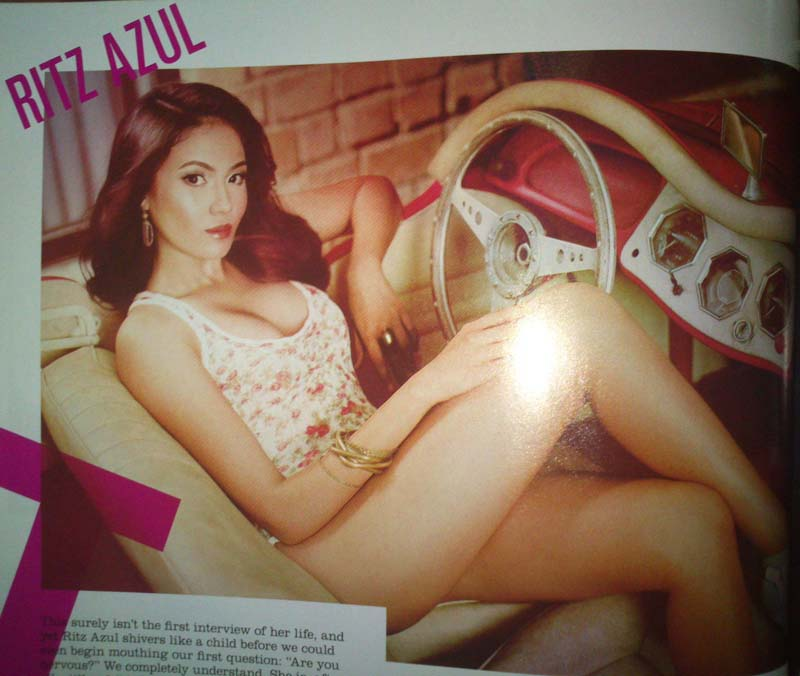 Ritz Azul FHM November 2012 Cover Issue Philippines Edition