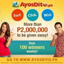 Surf. Click. Win Promo at AyosDito.ph