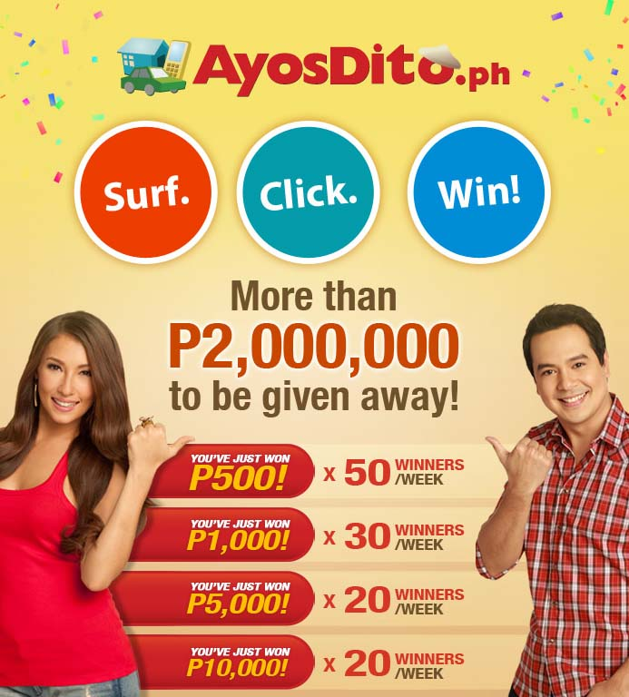 Surf. Click. Win Promo at AyosDito.ph | Jcyberinux693