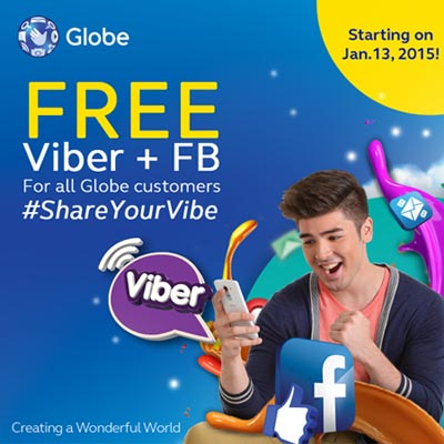 Globe Free Viber and Facebook