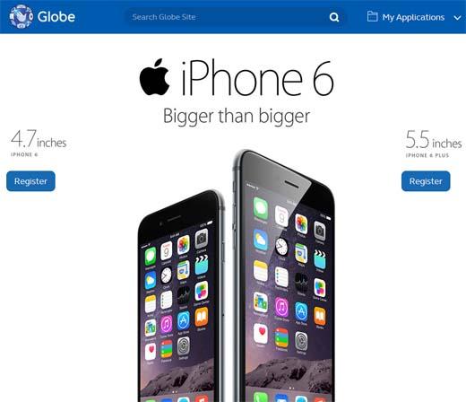 Globe iPhone 6 pre-order