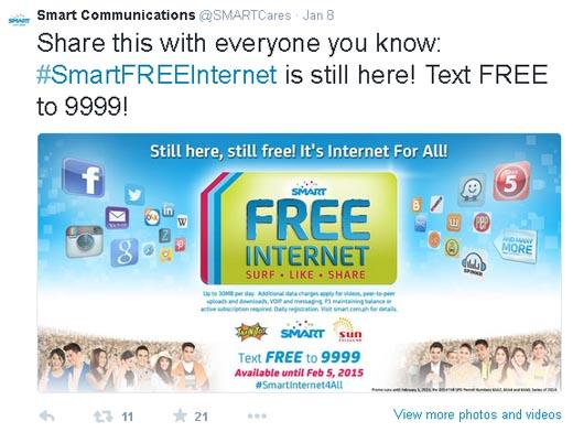 Smart Free Internet Promo