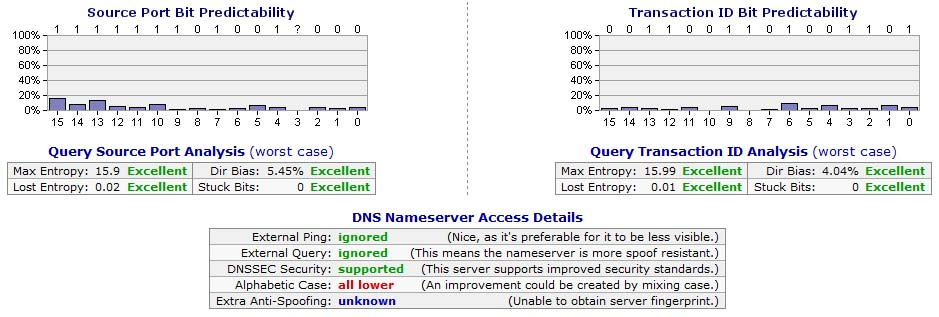 DNS Server Spoofability Test